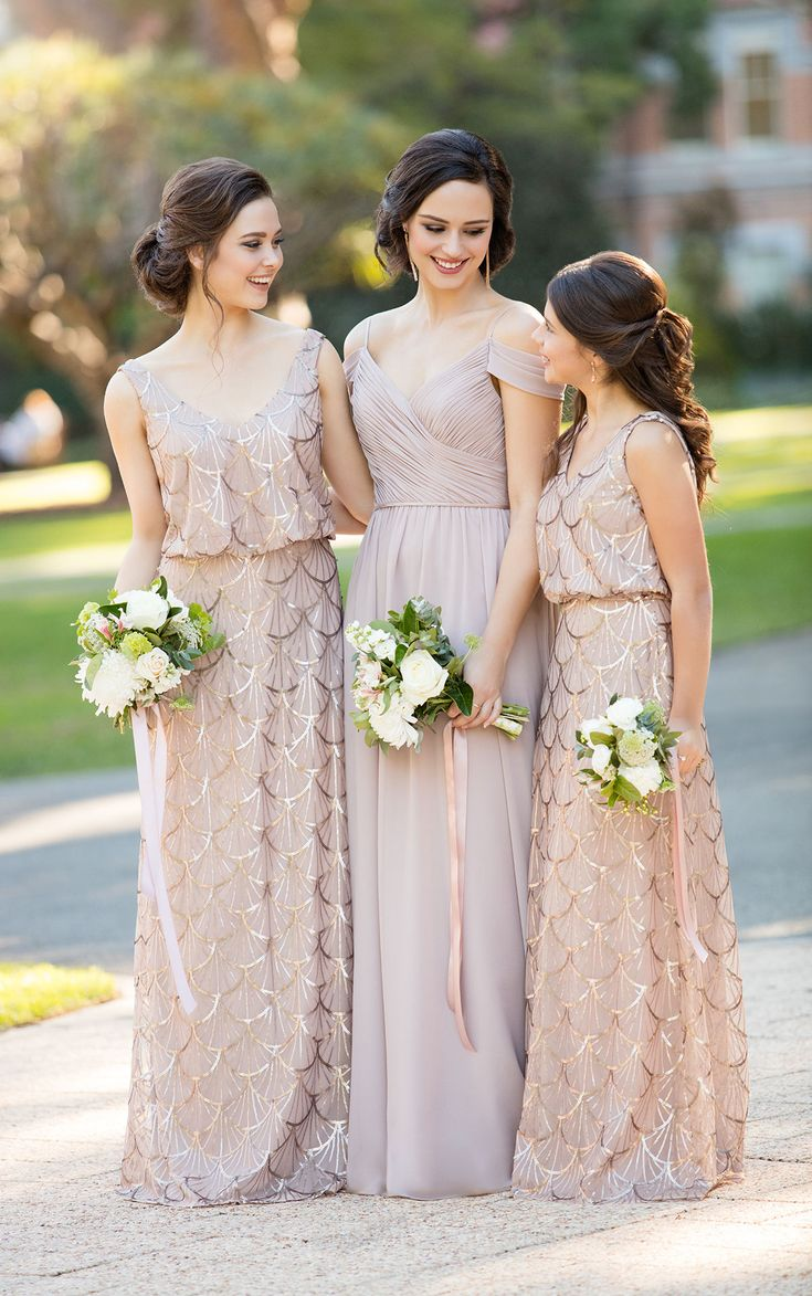 25 best Sequin Bridesmaids images on Pinterest | Short wedding gowns ...