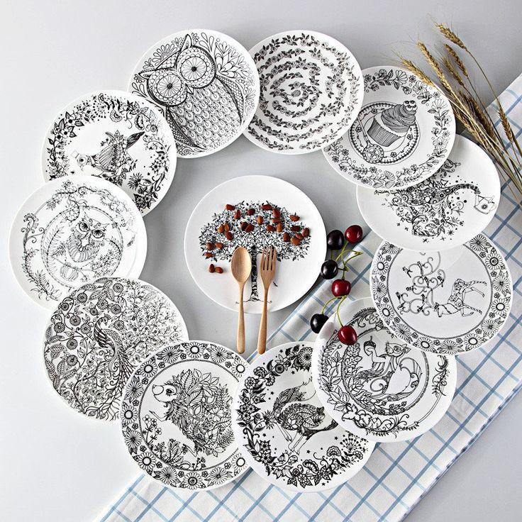 The Black & White Sketch Plates #Plates