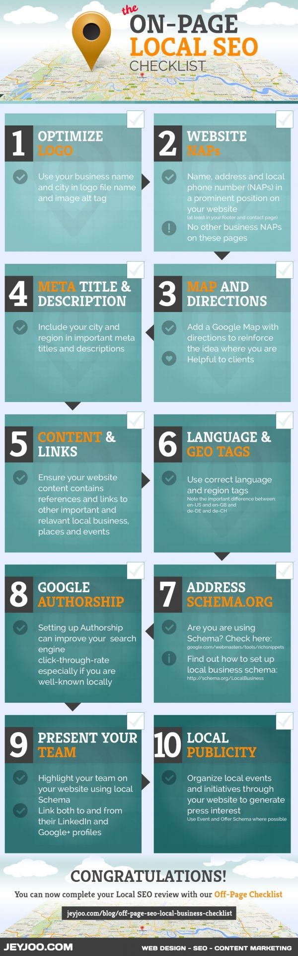 The On-Page Local SEO Checklist - #infographic