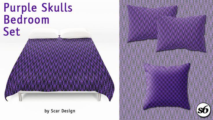 Gothic Bedroom Set by Scar Design.   #gothic #gothicgifts #skulls #skullsduvetcover #skullsduvet #gothicduvet #gothicpillows #skullspillow #throwpillow #giftsforhim #giftsforher #bedroom #bedroomgifts #gothicbedroom #goth #gothteenager #teenagersroom #teens #homedecor #homegifts #gothgifts #gothhome #gothichome #society6 #scardesign