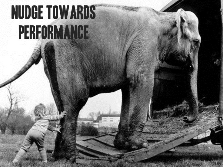 Move away from information and nudge towards performance