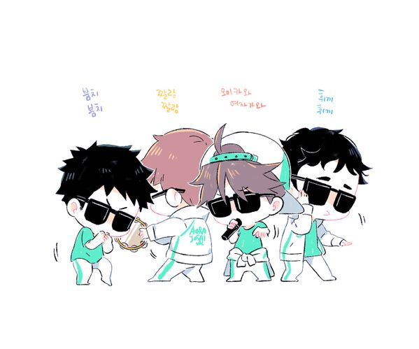 Haikyuu chibi aoba josai (they all look so gangsta and adorable and cute and omg) X3
