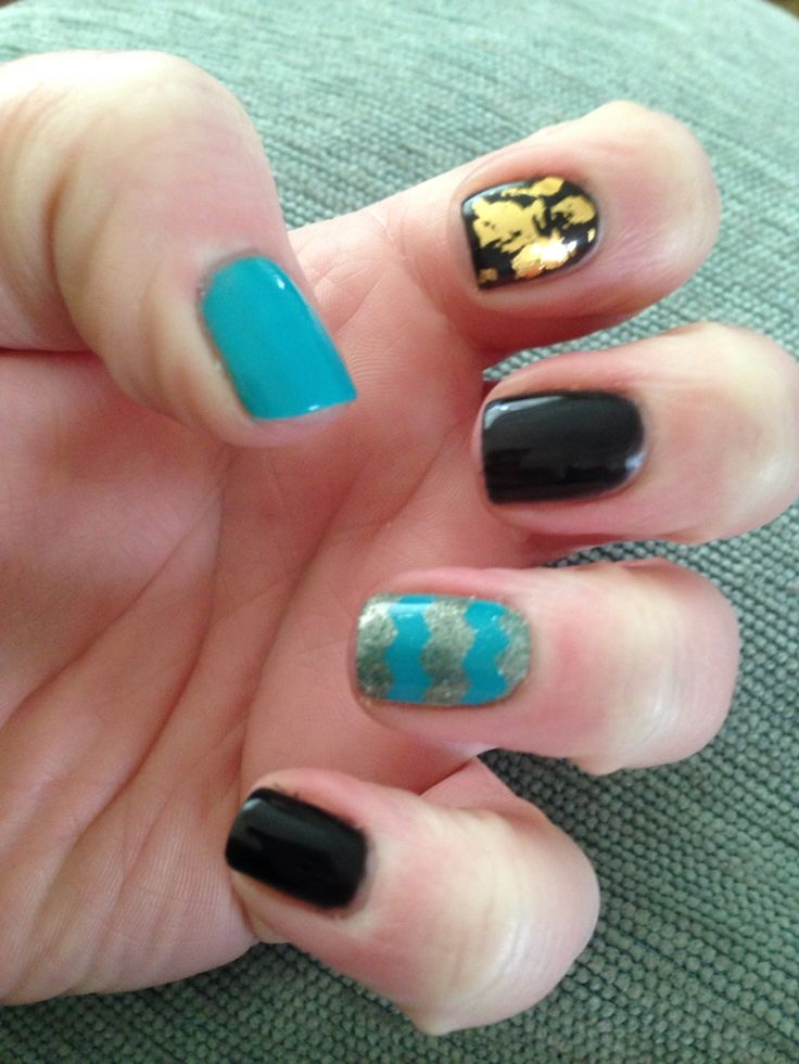 Mixture of orly fx and bio sculpture, stencilling and foil!