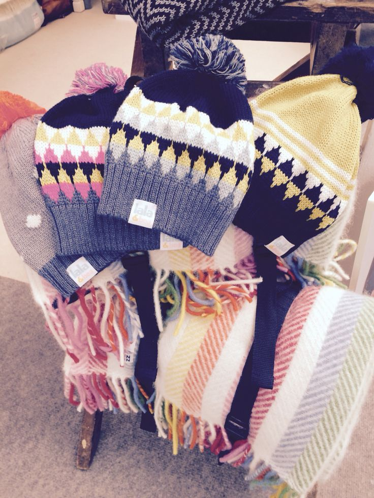 Fab bobble hats from Lala & Bea - fun bright colours, perfect for a chilly winter day! We love!