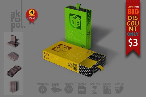Box Mock Up by akropol on @creativemarket