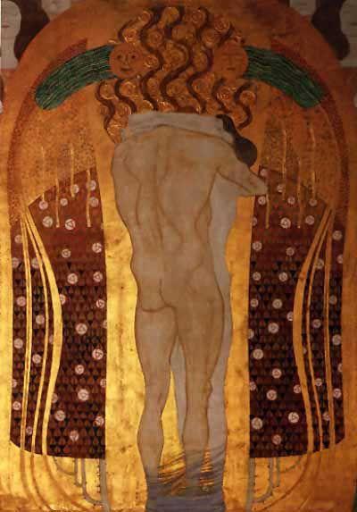 'beethoven fregio(dettaglio)04', olio di Gustav Klimt (1862-1918, Austria)