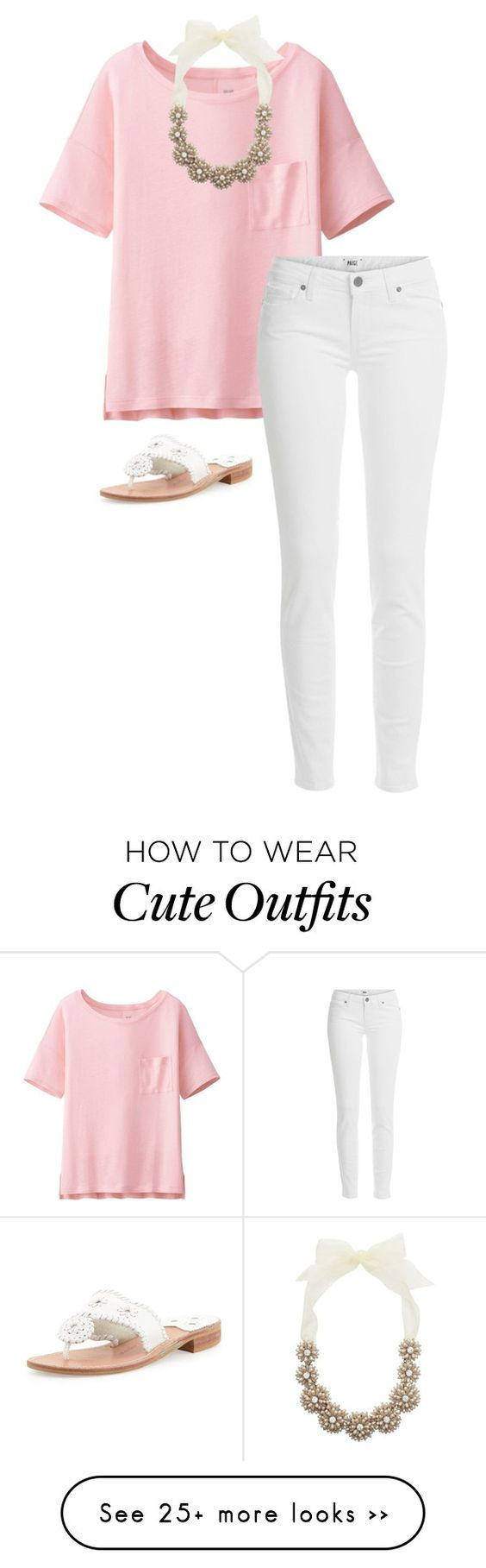 """""""cute outfit"""" by sassy-and-southern on Polyvore featuring Uniqlo, Kate Spade, Paige Denim and Jack Rogers"""