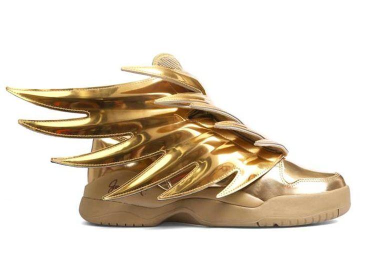 """Adidas JS wings 3.0 gold """"batman"""" GS - Chaussure Adidas Pas Cher Pour Femme/Enfant goldmt b35651"""
