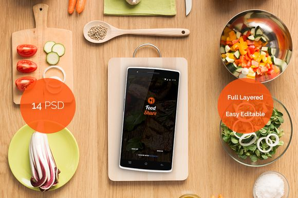Food Share - Food App Template UI by Cem Akyurek on @creativemarket