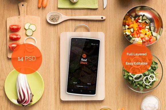 Food Share - Food App Template UI by Cem Akyurek on @creativemarket