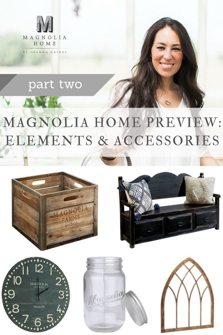 Take a closer look at the Elements & Accessories in the Magnolia Home by Joanna Gaines furniture line! #ShopGAHS #magnoliahome #joannagaines