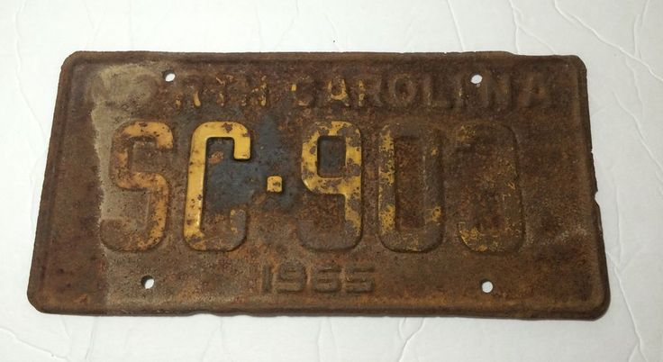 { RUSTY } 1955 NORTH CAROLINA  LICENSE PLATE TAG SC-903  | eBay