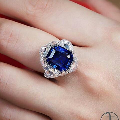 A Burmese unheated sapphire and diamond ring, by Forms Jewellery. @formsjewellery