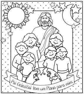 """""""O Pai Celestial tem um plano para mim"""" - para colorir"""