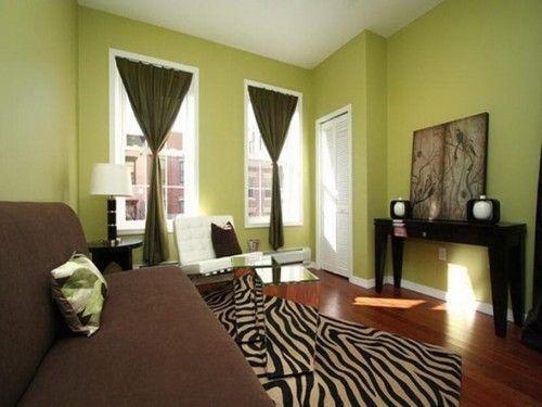 12 Fotos De Salas En Verde Y Marrón · Living Room BrownColors ...