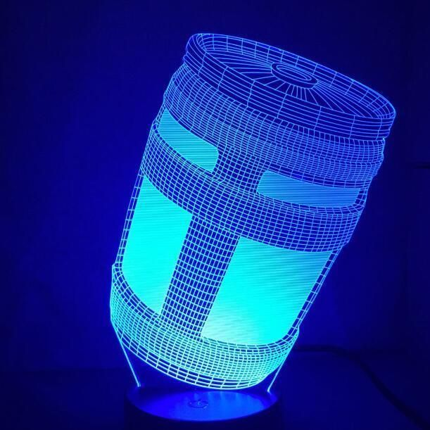 Fortnite Lamp 3d Bottle Different Colors Cold Light Gift Mood Lamps 3d Lamp Fortnite