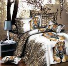 Animal Print 3D Duvet Quilt Cover Pillow Case Bed Set Single Double King Sizes