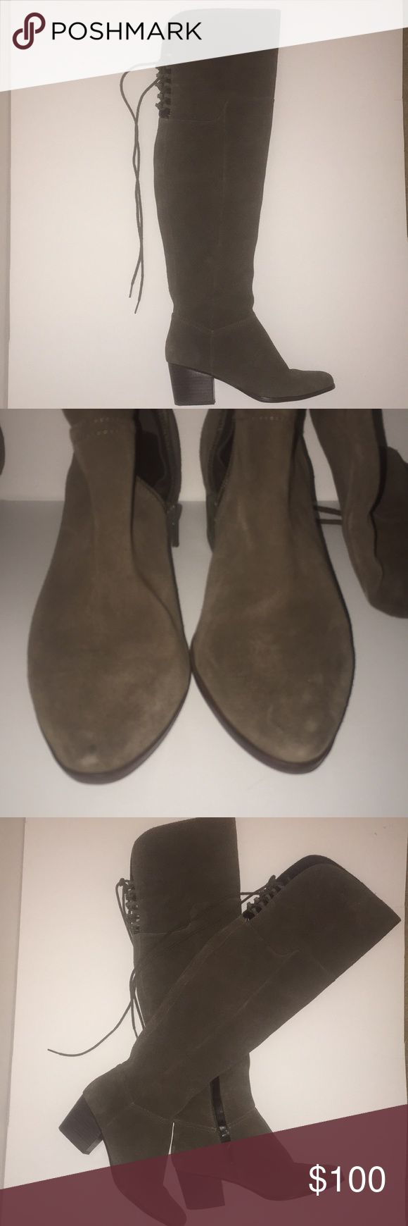 ALDO Knee High Boots Gorgeous Suede Knee High Boots Great with any outfit!  Heel height: 2.5 inches Aldo Shoes Heeled Boots