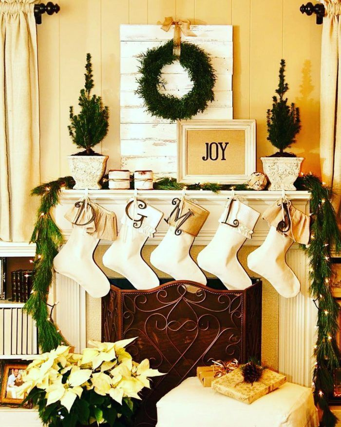 980 best Christmas Mantels images on Pinterest | Merry christmas ...