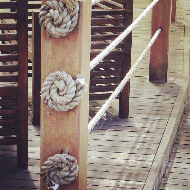 Nautical rope ends for decking ideas by lynneknowlton via for Garden decking with rope