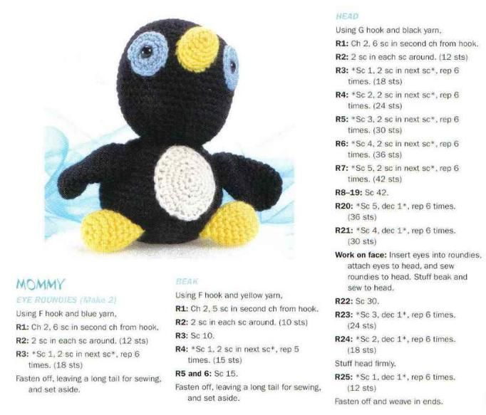 25 mejores imágenes en Crochet Christmas Penguin en Pinterest ...