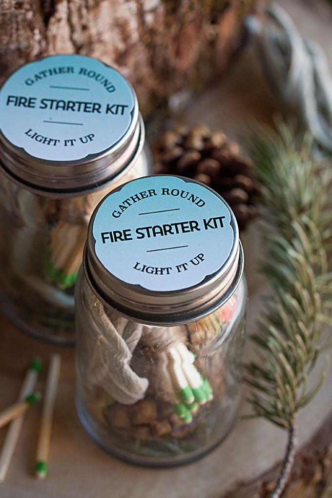 DIY Firestarter Kit Favors | The Evermine Blog | www.evermine.com