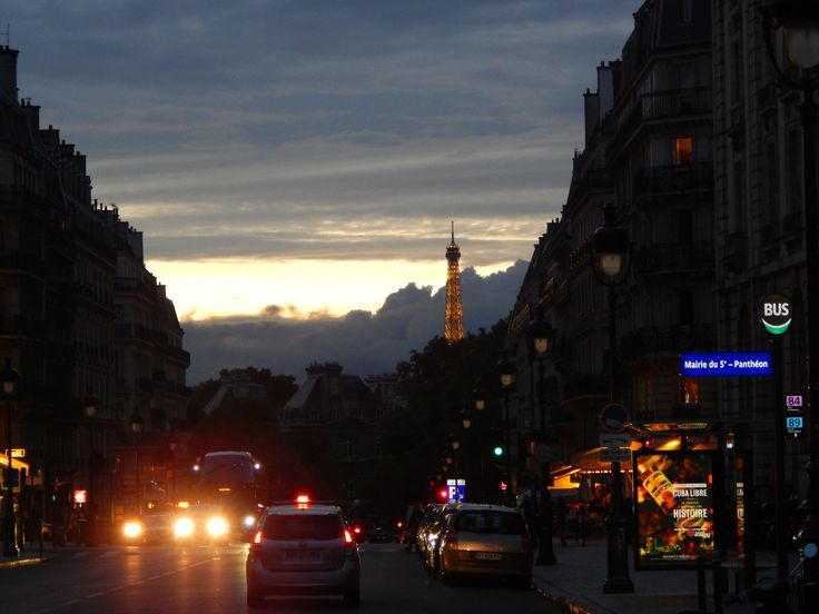#EiffelTowerTop #Carlights #StreetsofParisBynight #Paris