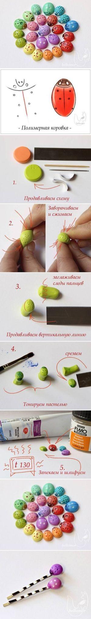 DIY Polymer Clay Ladybug DIY Polymer Clay Ladybug by diyforever