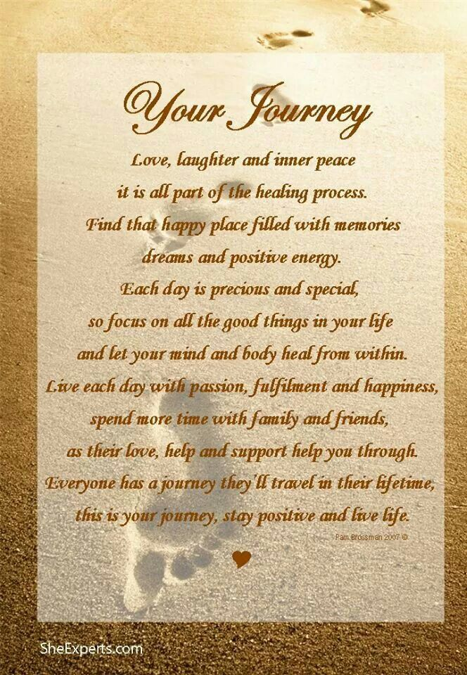 Your Journey - by Pam Brossman | Words to Live By ...
