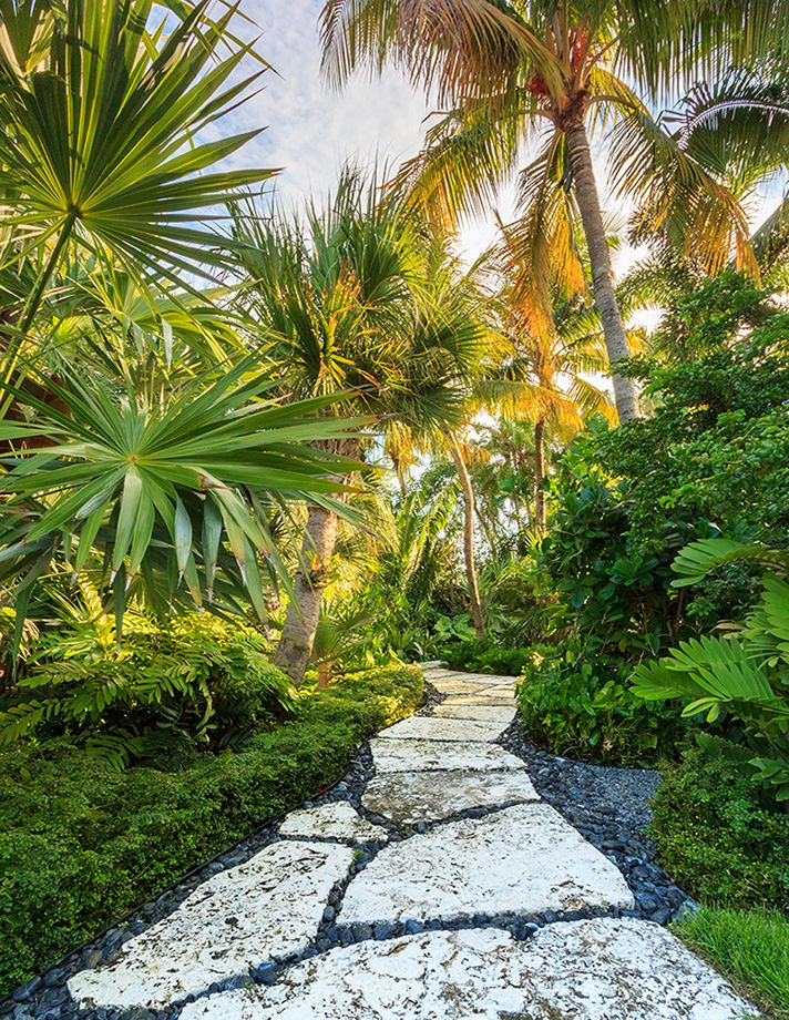 Tropical Outdoor Garden Path Design
