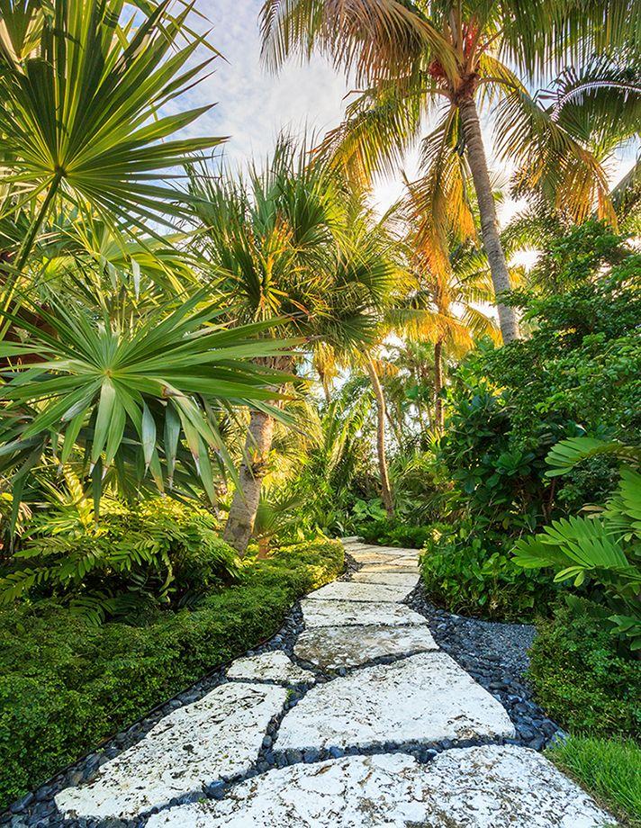 Tropical Outdoor Garden Path Design