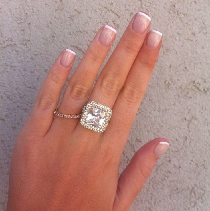 Short french -Wedding manicure - #nails