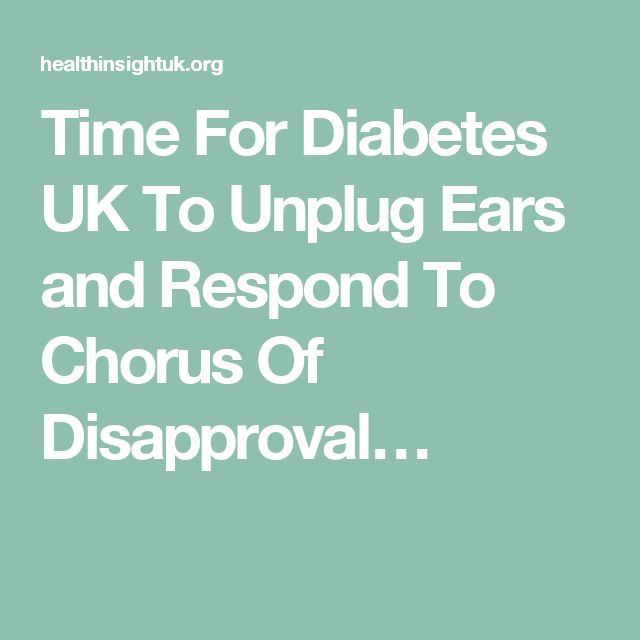 Time For Diabetes UK To Unplug Ears and Respond To Chorus Of Disapproval…