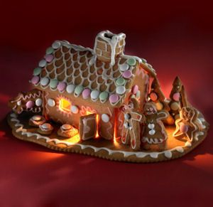 Gingerbread cottagej with video