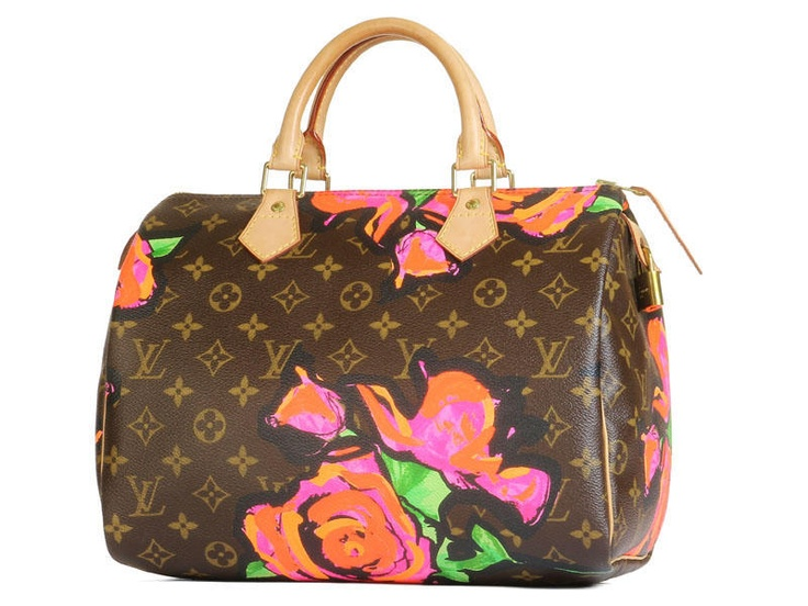 Louis Vuitton Roses Speedy 30 Bag by Stephen Sprouse