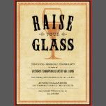 Raise your glass vintage rehearsal dinner party invitations.