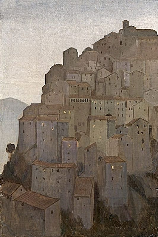 Dusk, Anticoli Corrado - 1921 by Charles Cundall (British, 1890-1971)
