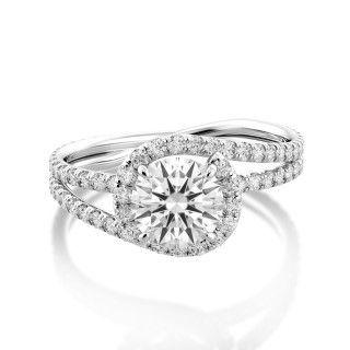 Abbraccio Swirl Engagement Ring Designed by #Danhov  www.danhov.com   #Fashion #Luxury #Jewelry #Engagementring #Handmadejewelry #MadeinUSA #LosAngeles