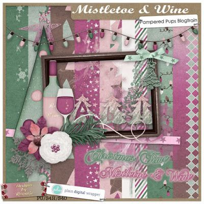 The last month of the year is here and that inspired us to create a Christmas themed bloghop: Mistletoe & Wine. With rustic greens and deli...