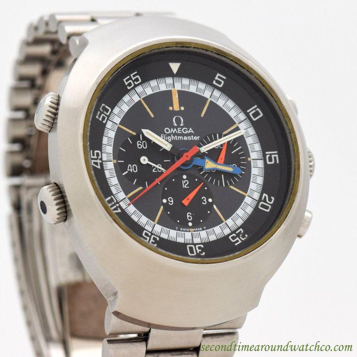 1976 Vintage Omega Flightmaster Ref. 145.036 Stainless Steel Watch