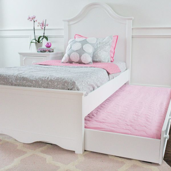 craft charleston white girls bed with white trundle bed - Girls Twin Bed Frame