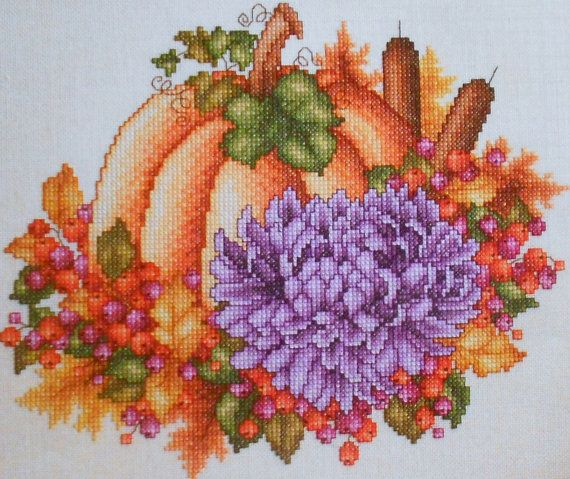 cross stitch patterns by pamela kellogg | Pamela Kellogg FALL HARVEST Pair of Pictures - Counted Cross Stitch ...