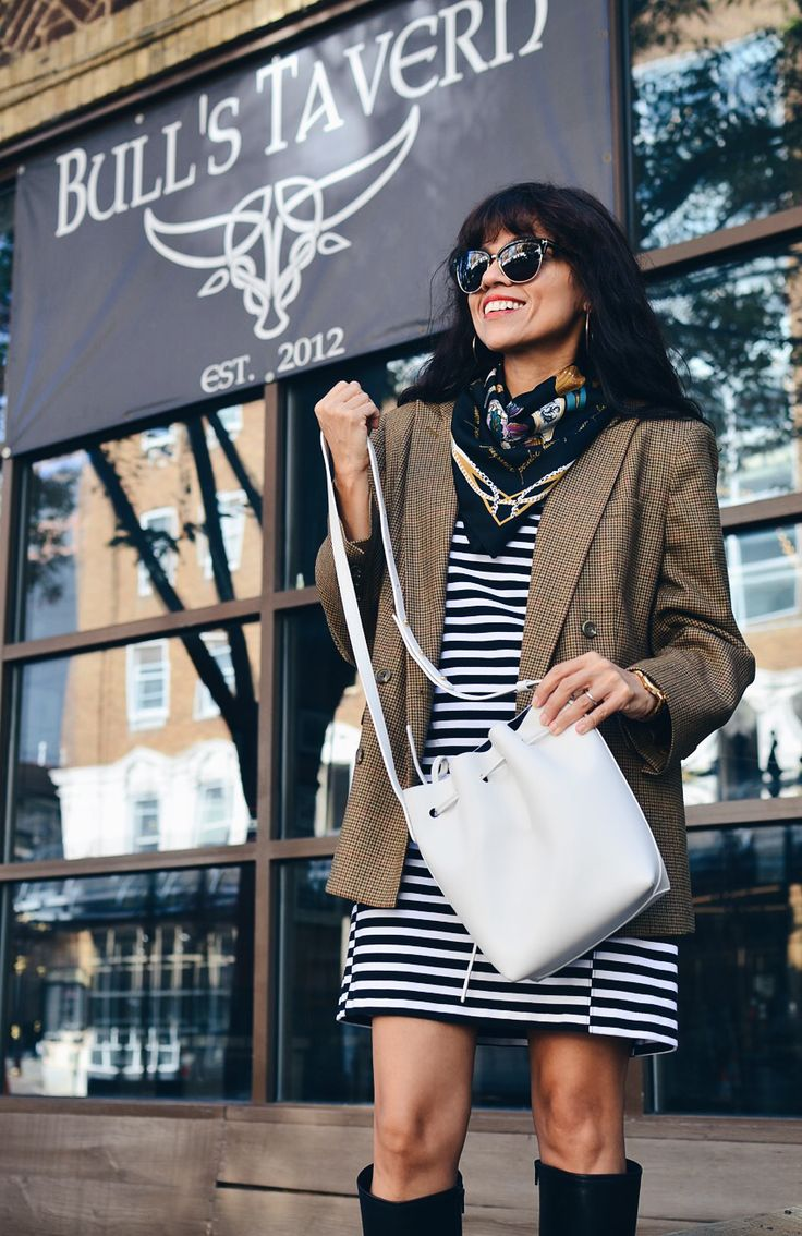 Houndstooth jacket street style
