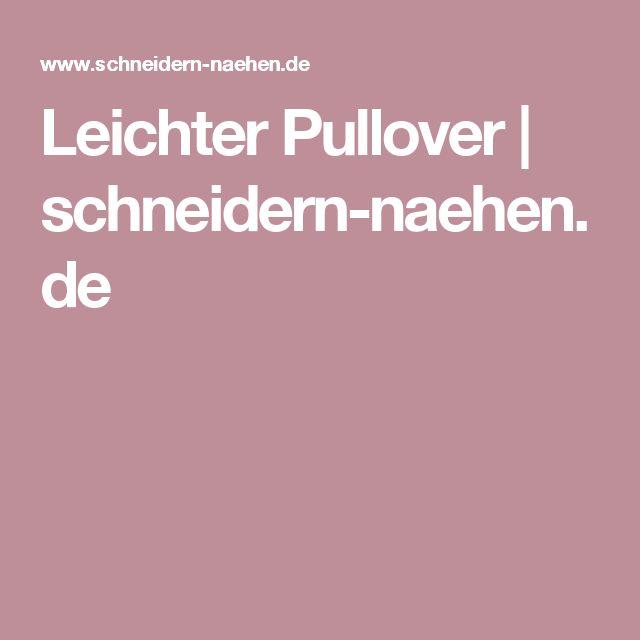 Leichter Pullover | schneidern-naehen.de