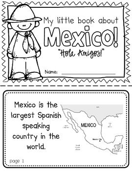 Mexico Booklet (a country study!)-- Use during social studies units about countries around the world! TeachersPayTeachers