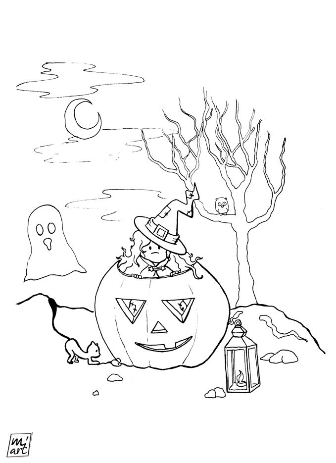 [FREE-COLORING PAGE] Halloween is coming