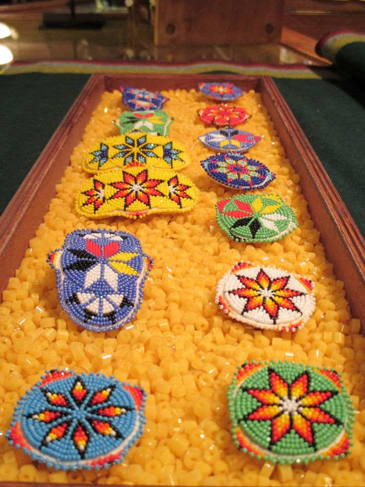 #Beaded Barrettes and #pins available at www.Siouxtrading.com