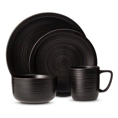 Threshold™ Studio Round 16 Piece Dinnerware Set - Black