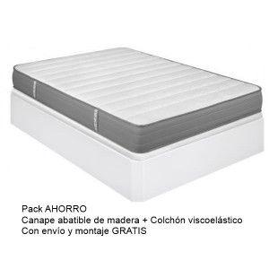 Pack Canapé Madera+ Colchon Viscoelastico