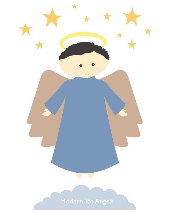 Angel Elijah Modern Wall Art Print PDF Digital Download